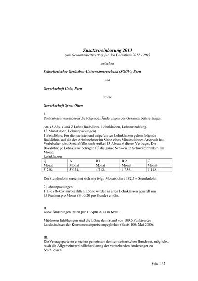 GAV Zusatzvereinbarung Gerüstbau 2013 de