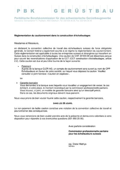 Réglementation du cautionnement dans la construction d'échafaudages